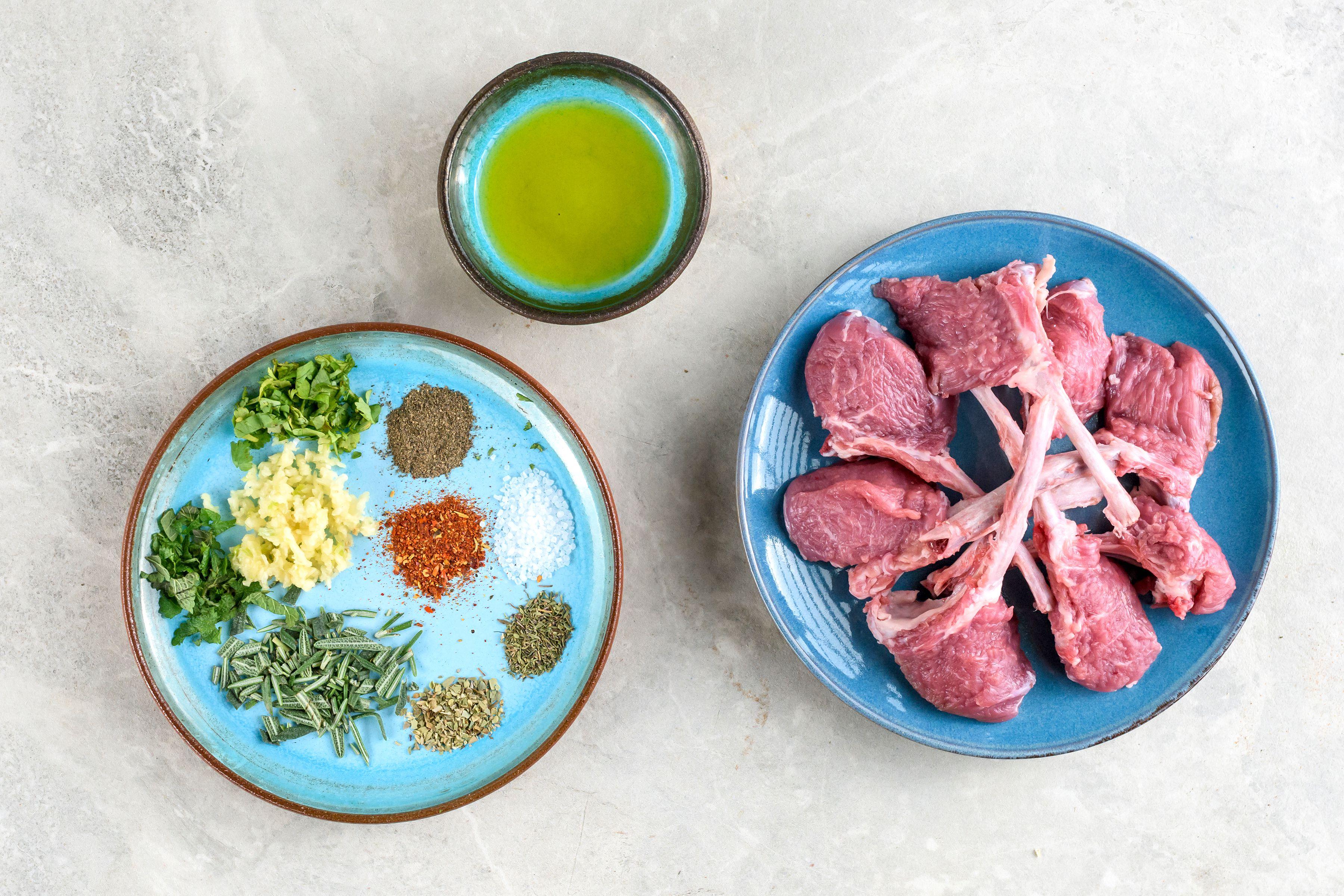 Garlic herb lamb chop recipe ingredientss