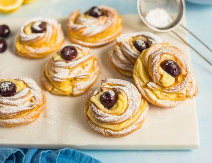 Zeppole di Giuseppe cream filled doughnut recipe