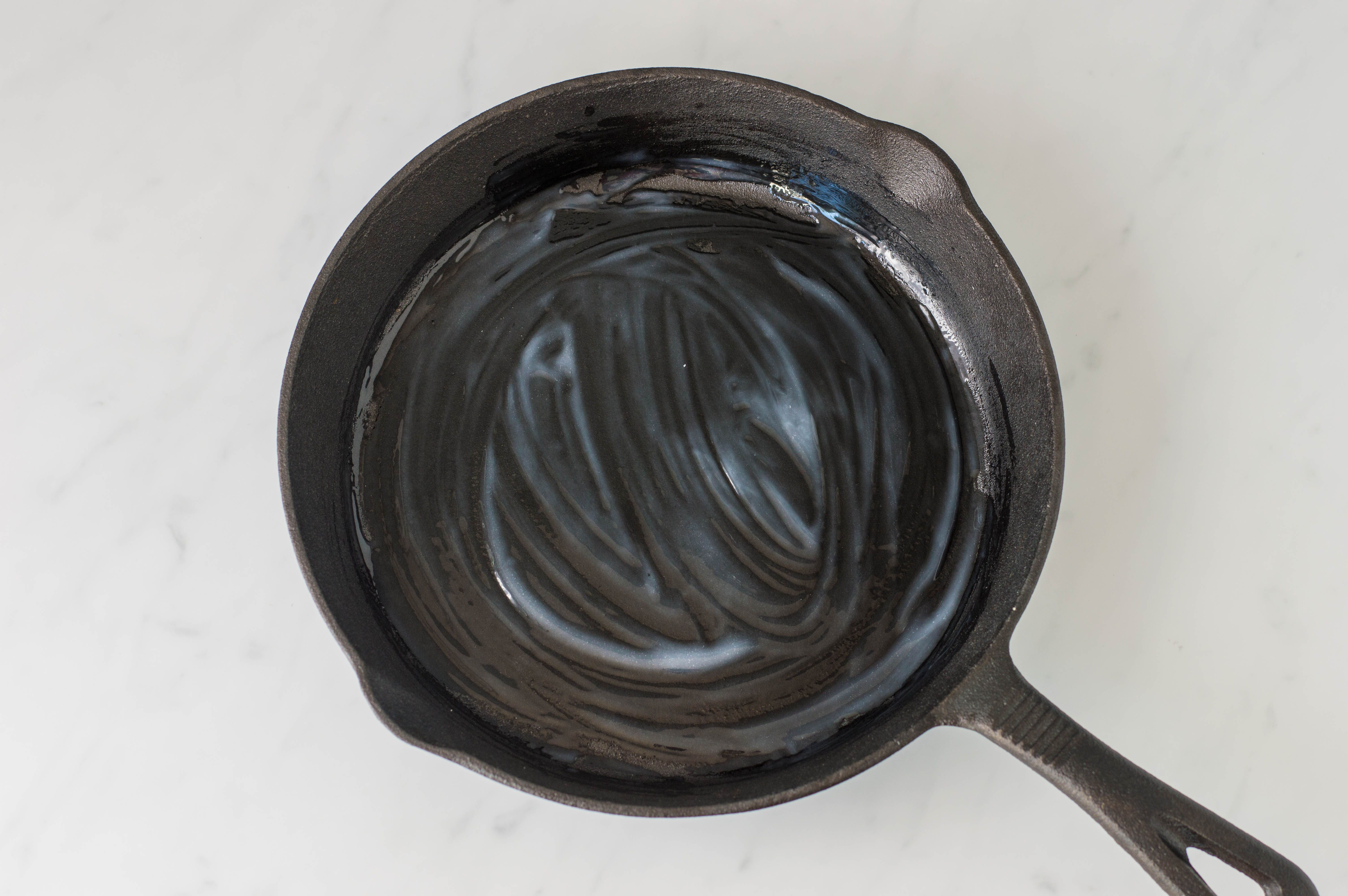 grease cast-iron skillet
