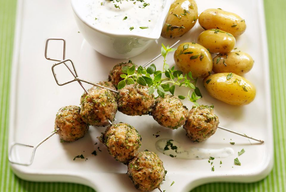 Lamb meatballs with tzatziki
