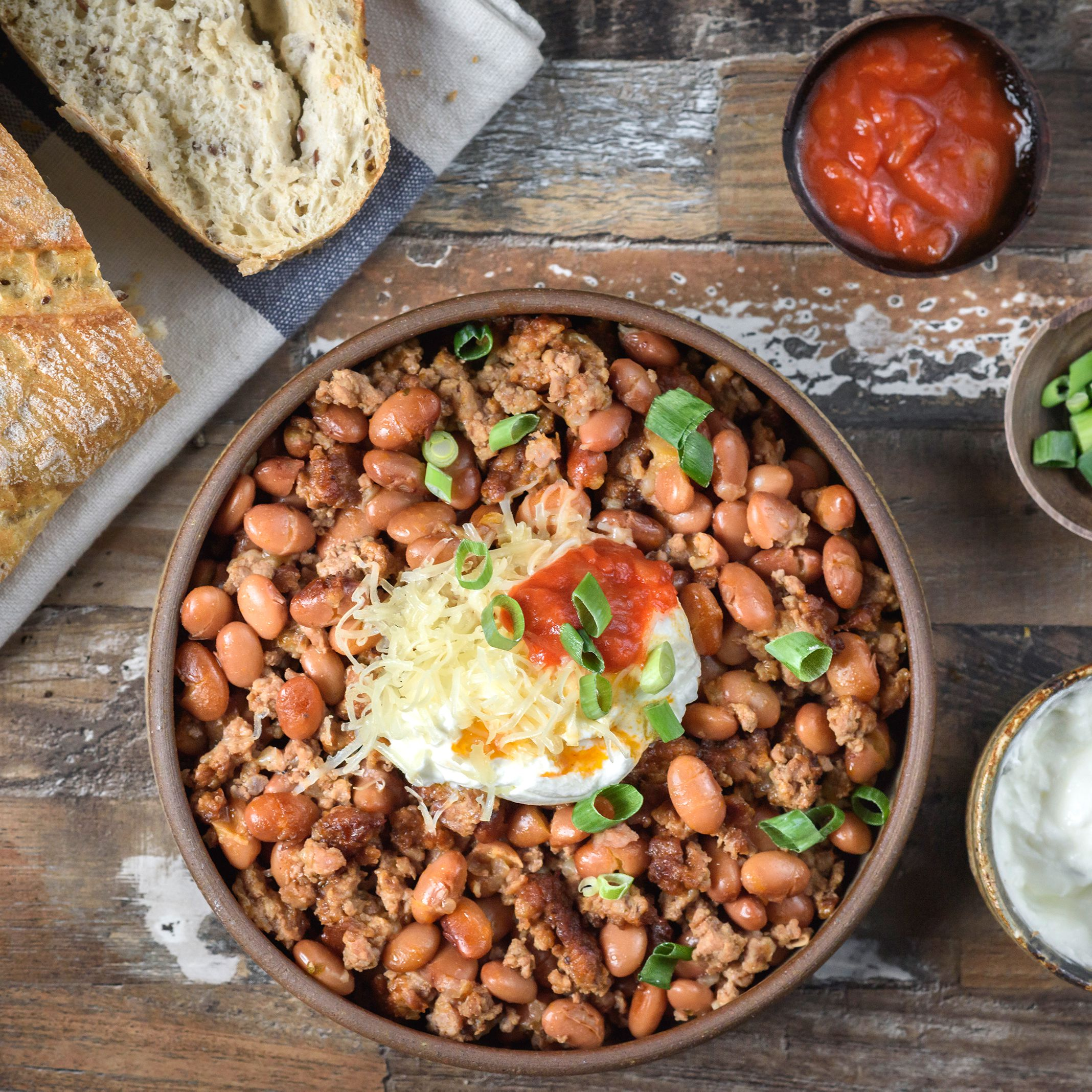 Crock Pot Chili Beans With Ground Beef Recipe