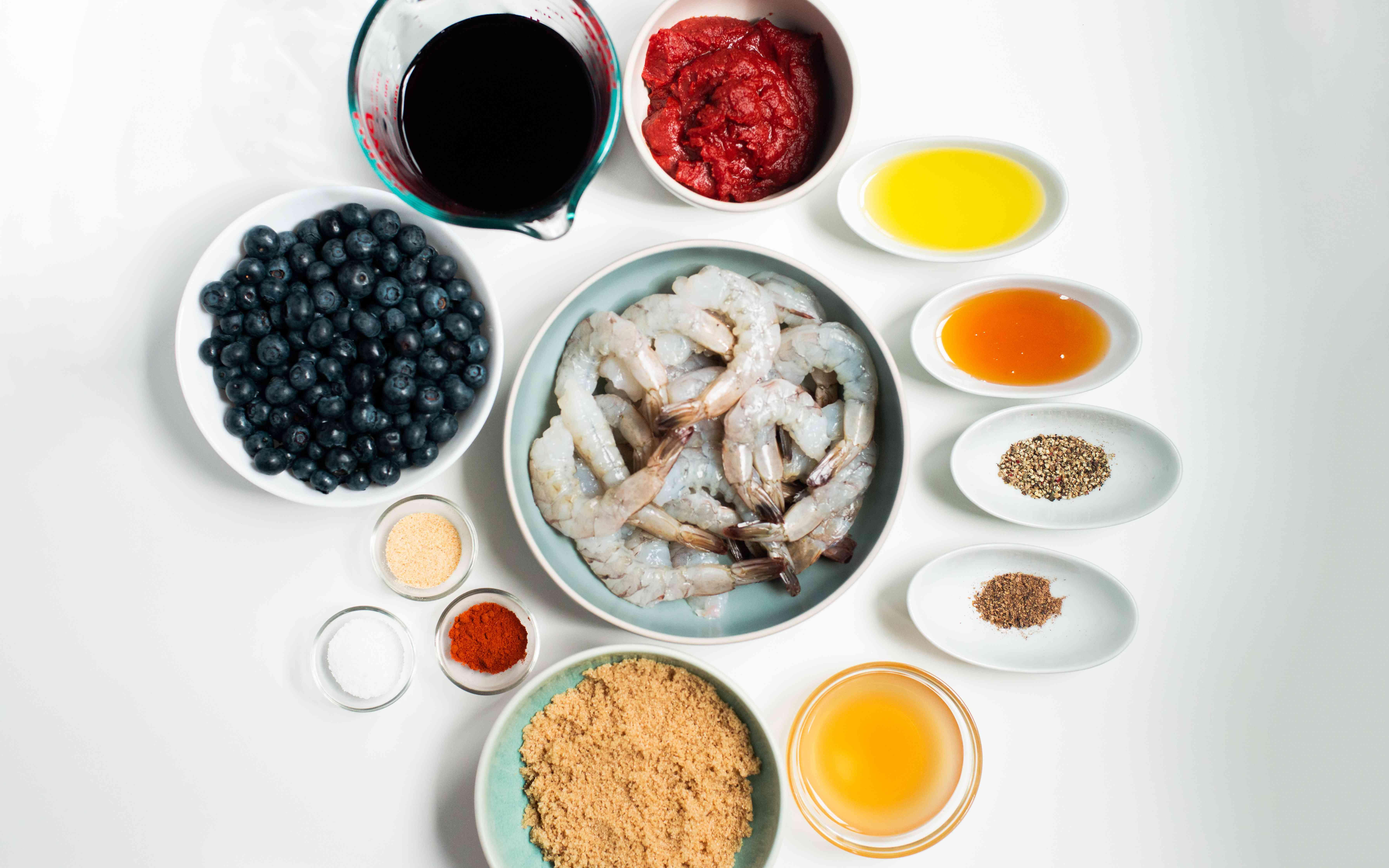Blueberry BBQ shrimp skewers recipe