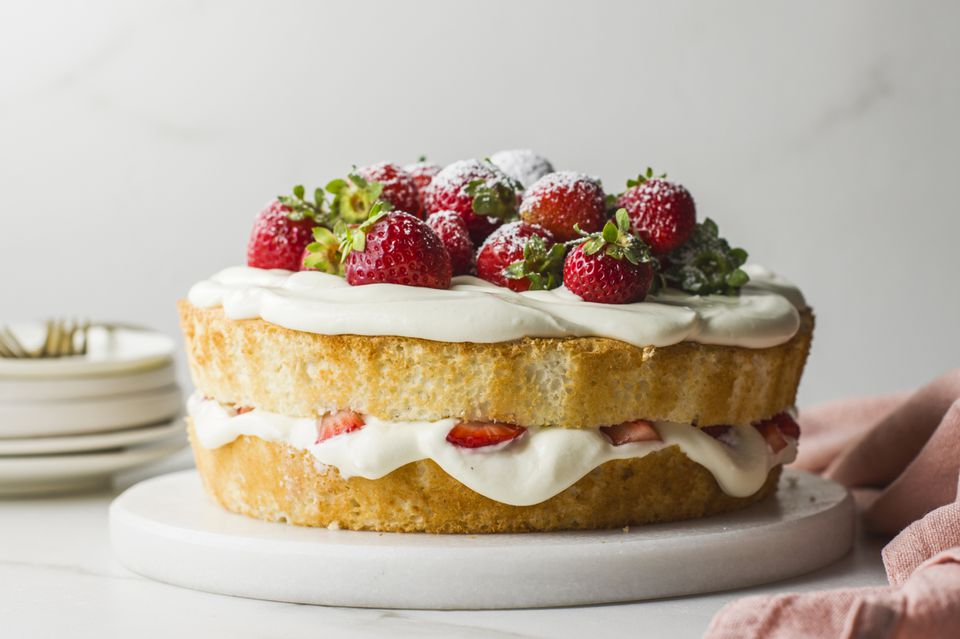 Strawberry angel food cake recipe