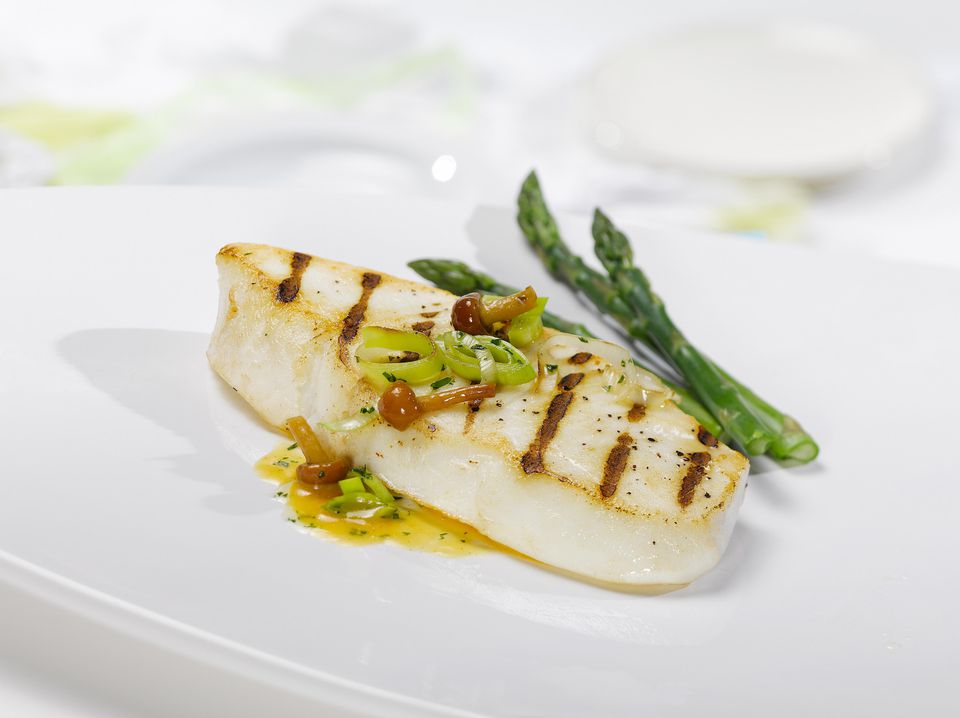 Grilled Lemon-Basil Halibut