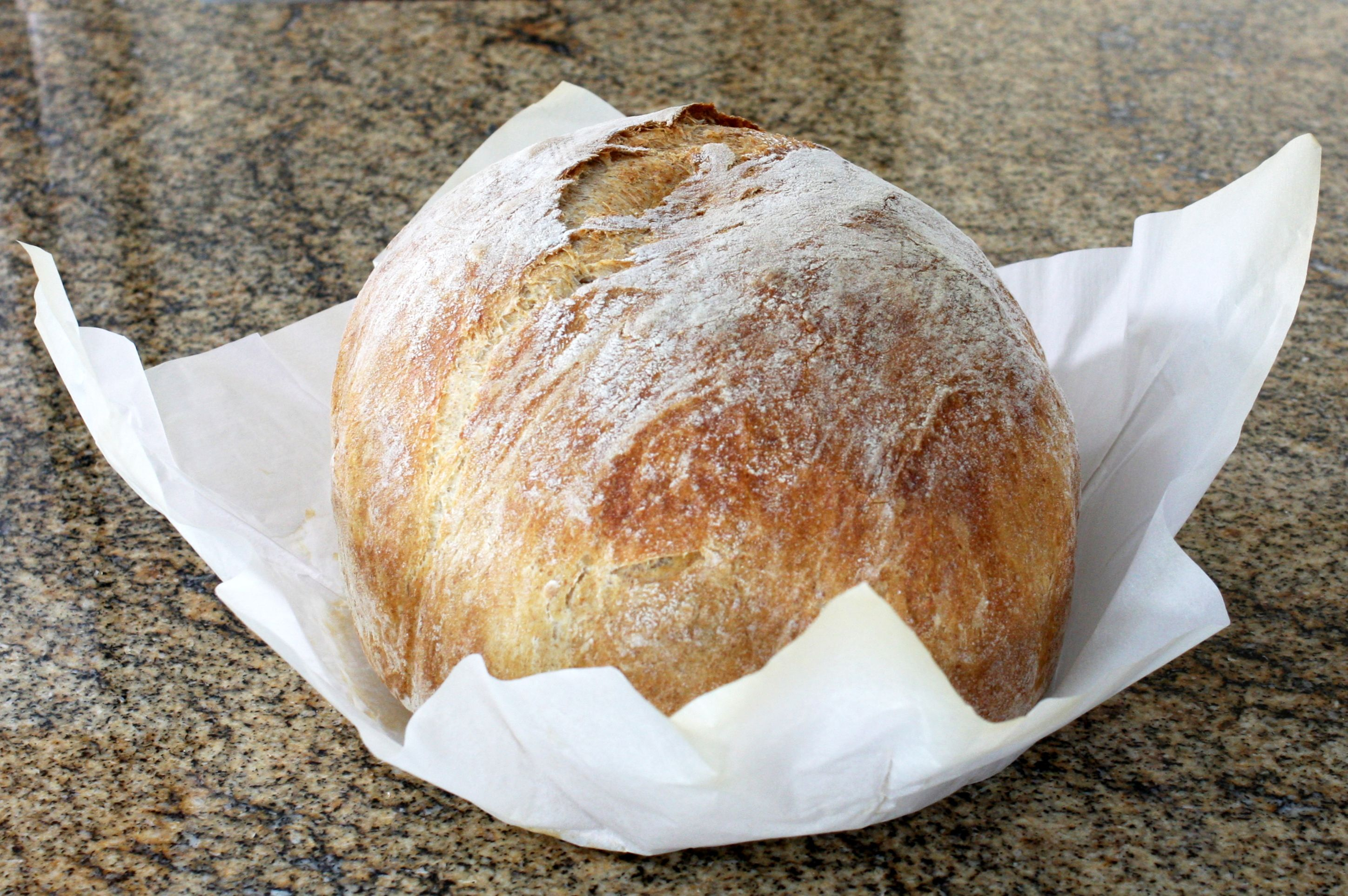 Crusty No-Knead Bread