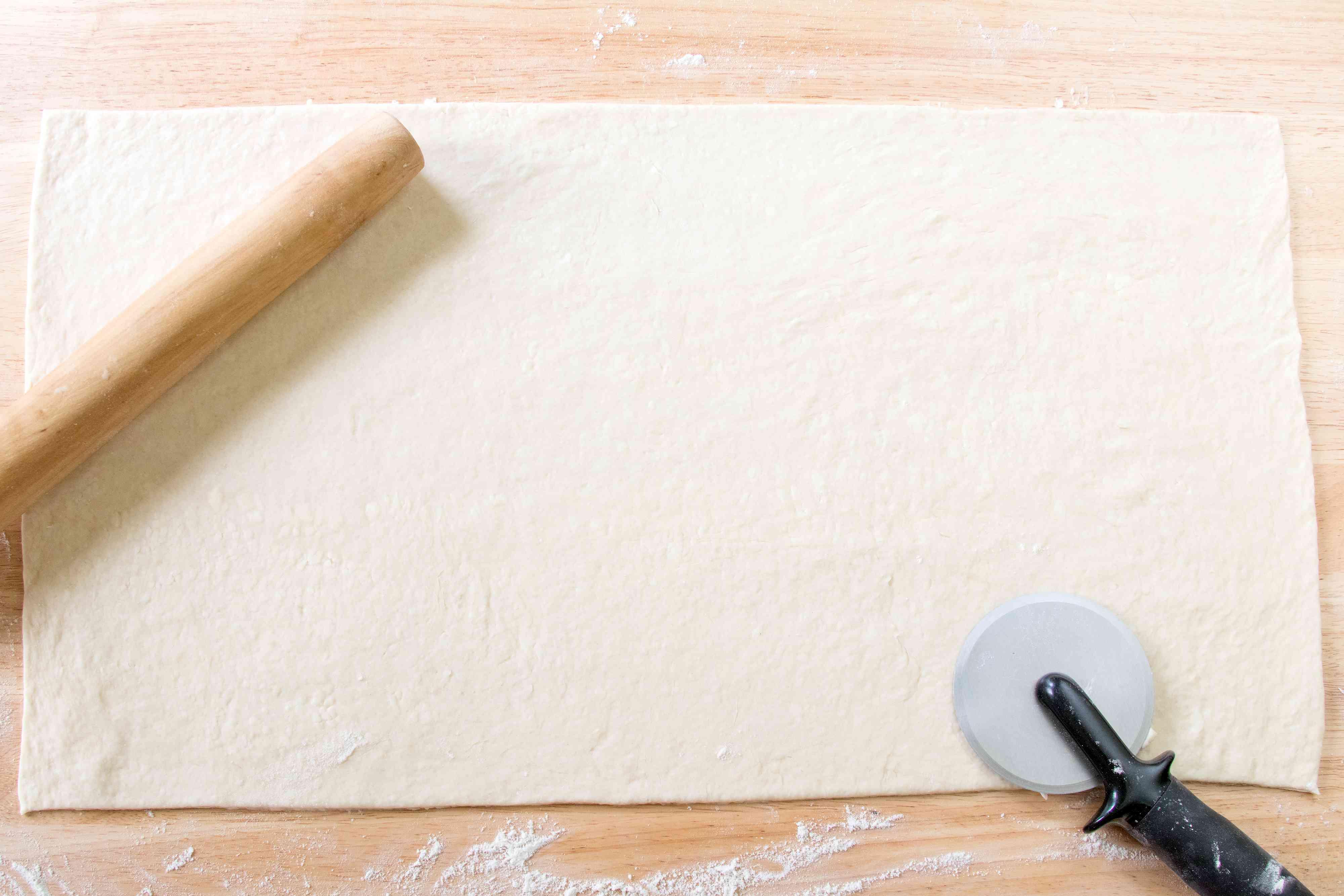 Rolling Out Croissant Dough