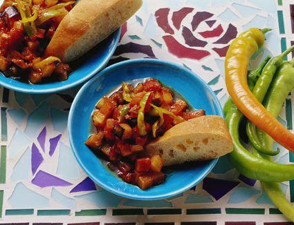 Eggplant and vegetable ragout (Şakşuka)