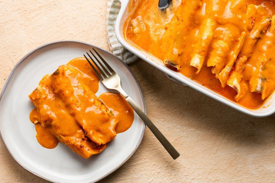 Dairy-Free Chicken Enchiladas Recipe