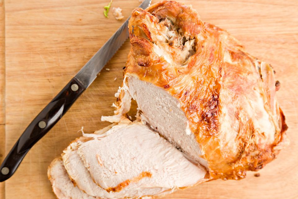 turkey breast roasted and slices