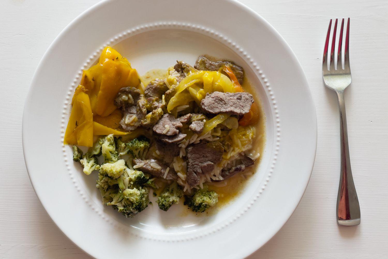 Freshly meal in bowl