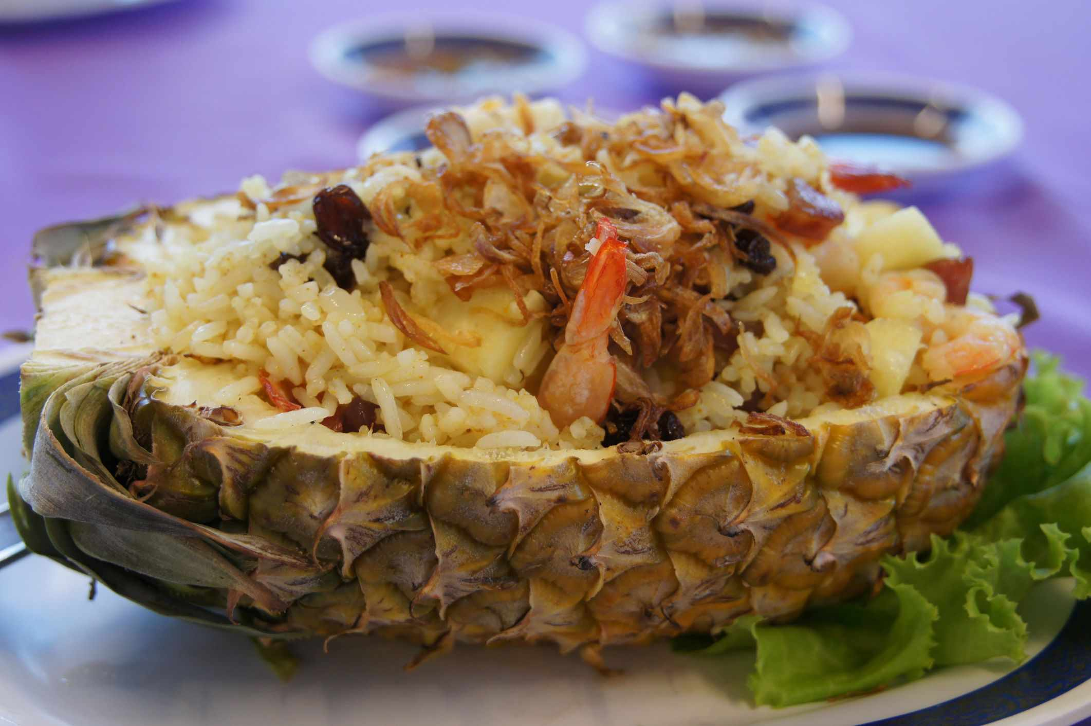 Pineapple shrimp fried rice