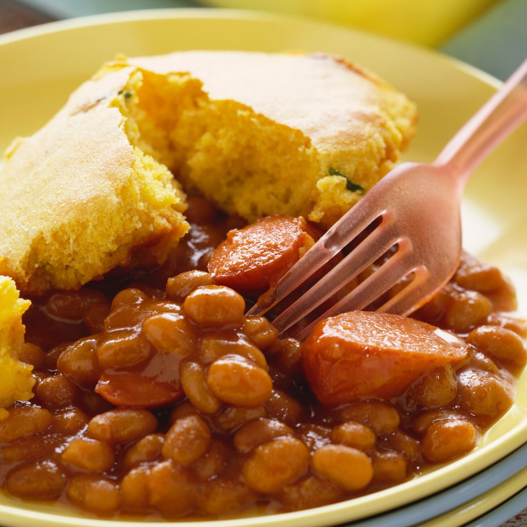 Slow Baked Beans And Franks Recipe