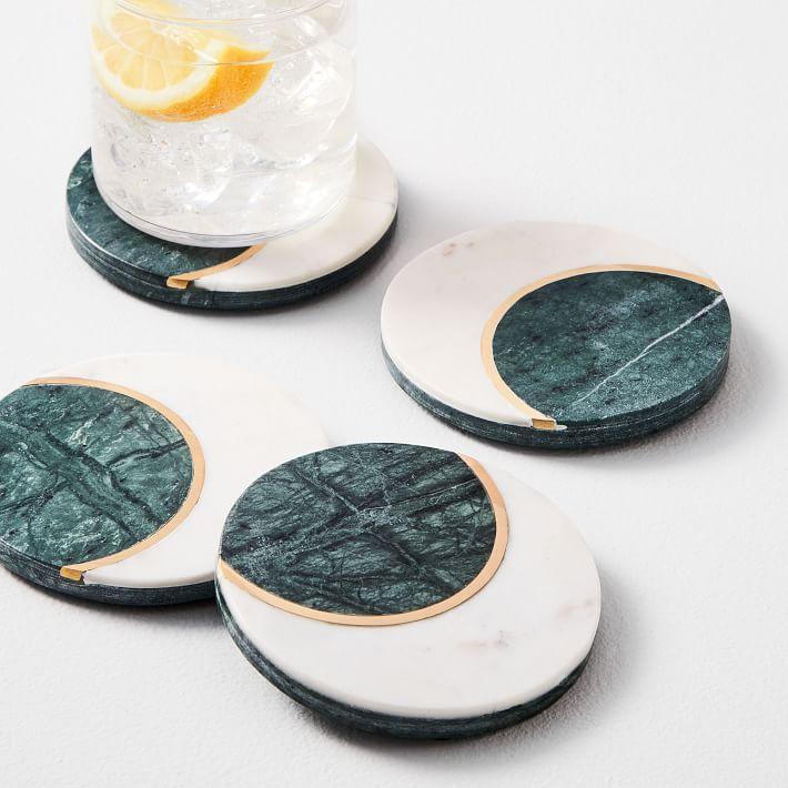 West Elm Marble Moon Coasters