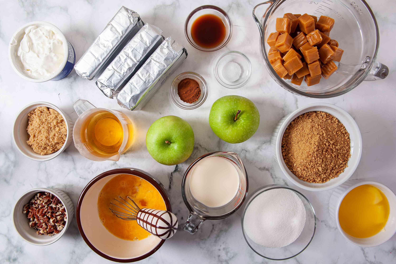 Caramel Apple Cheesecake ingredients