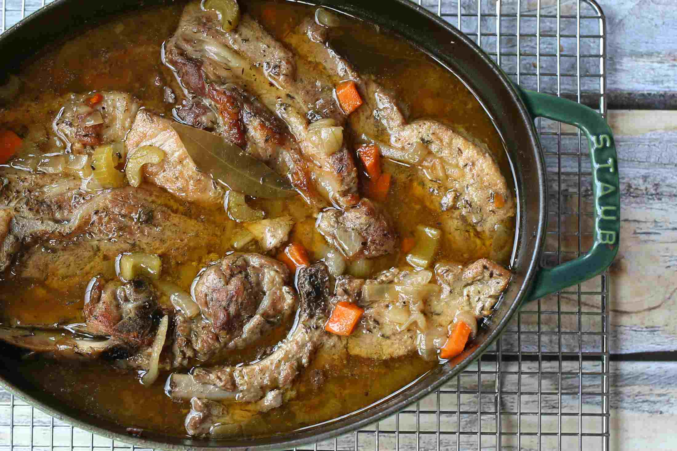 Cider Braised Country Style Pork Ribs
