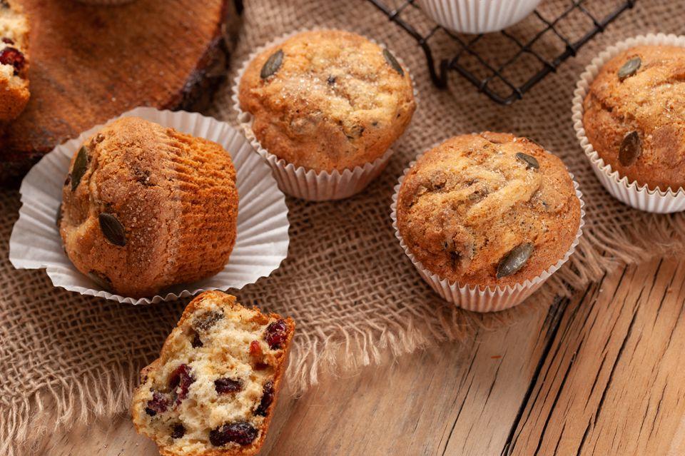 Cranberry pumpkin seed muffins