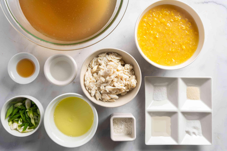 Cantonese Creamed Corn Soup ingredients