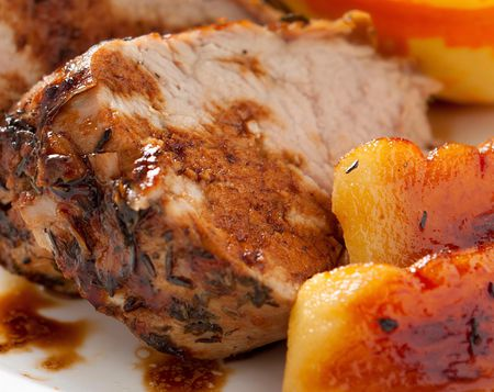 crock pot pork loin apples honey