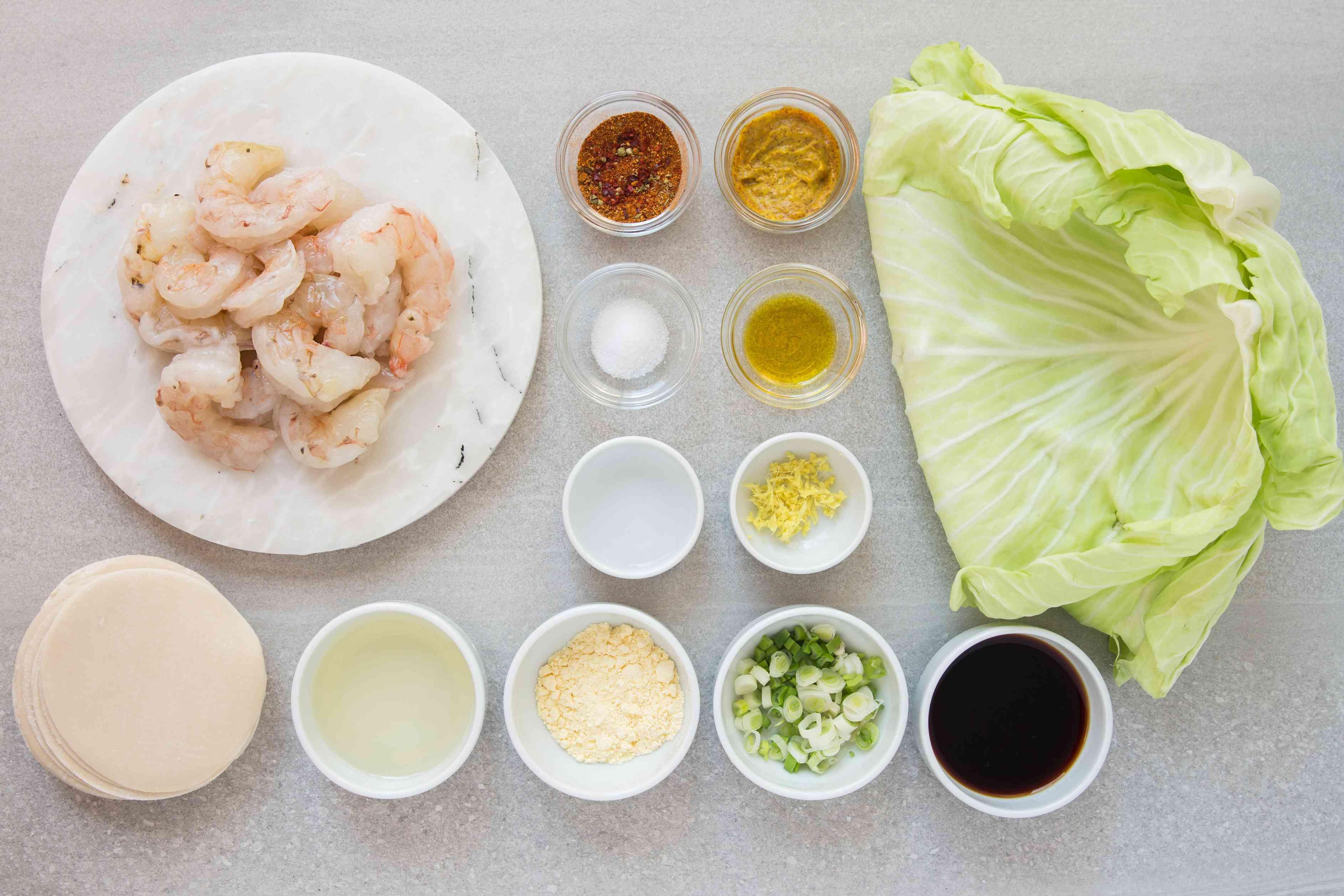 Japanese Shrimp Gyoza ingredients