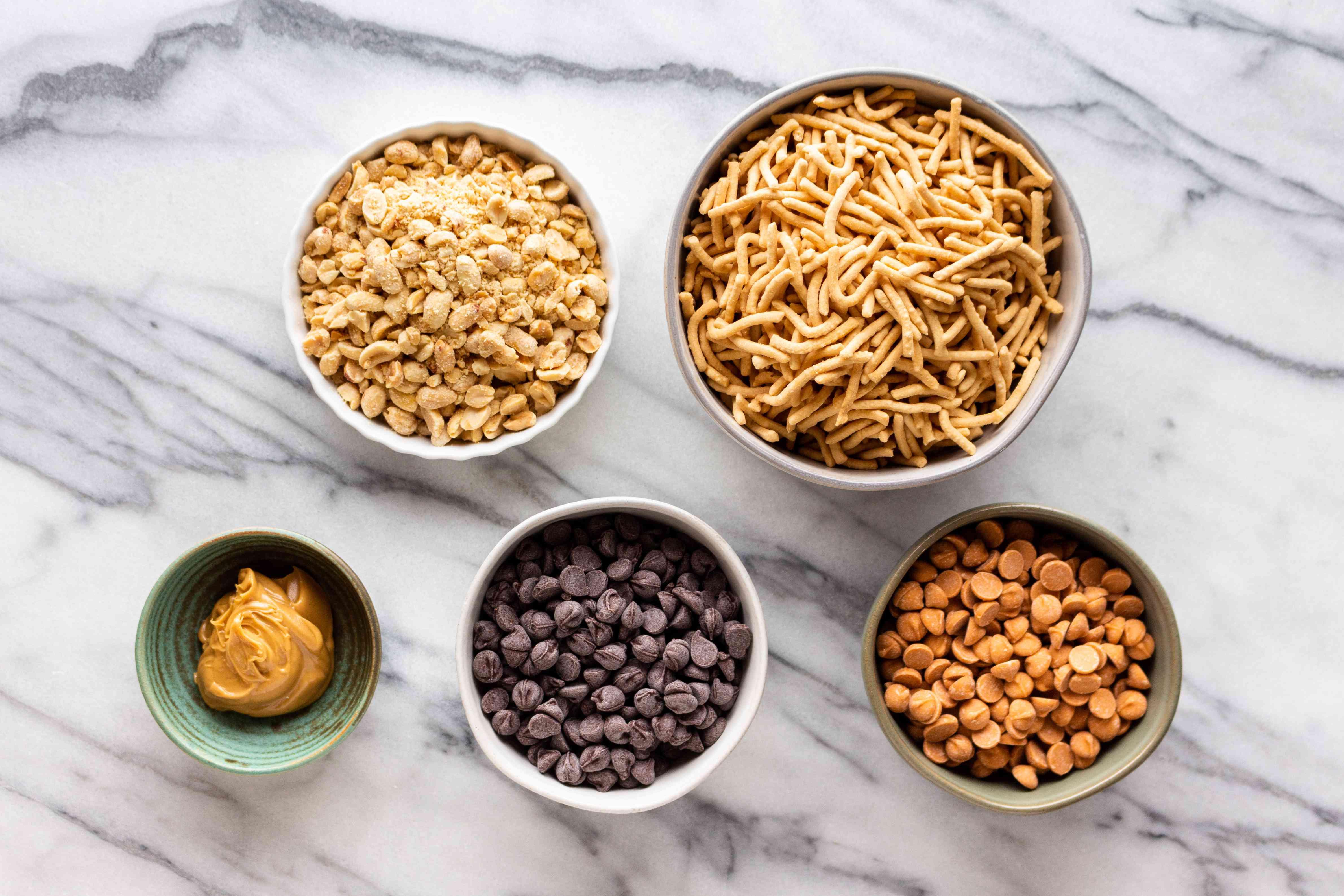 No-Bake Haystack Cookies ingredients