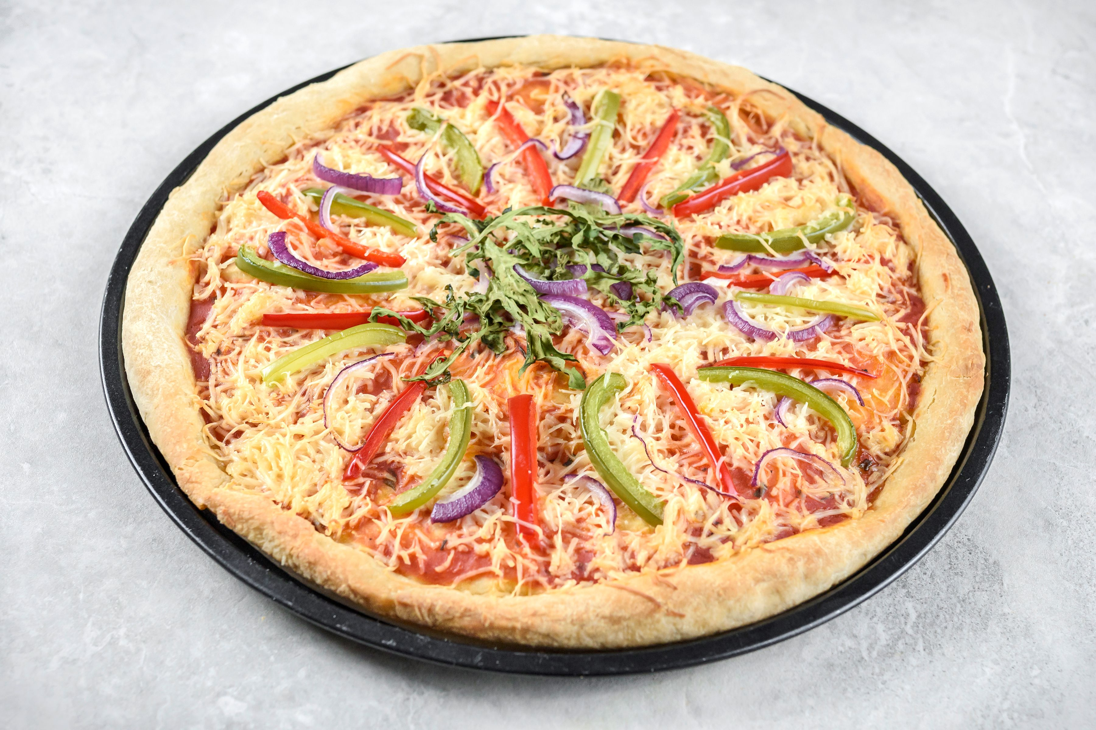 allow the pizza to cool slightly