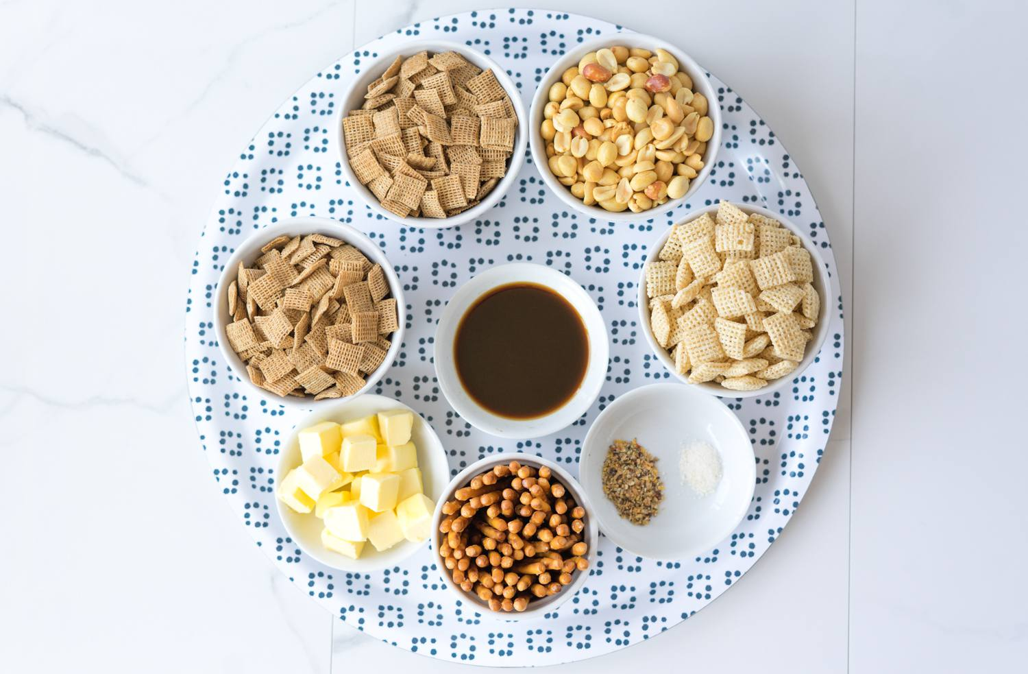 Chex Party Snack Mix Recipe ingredients