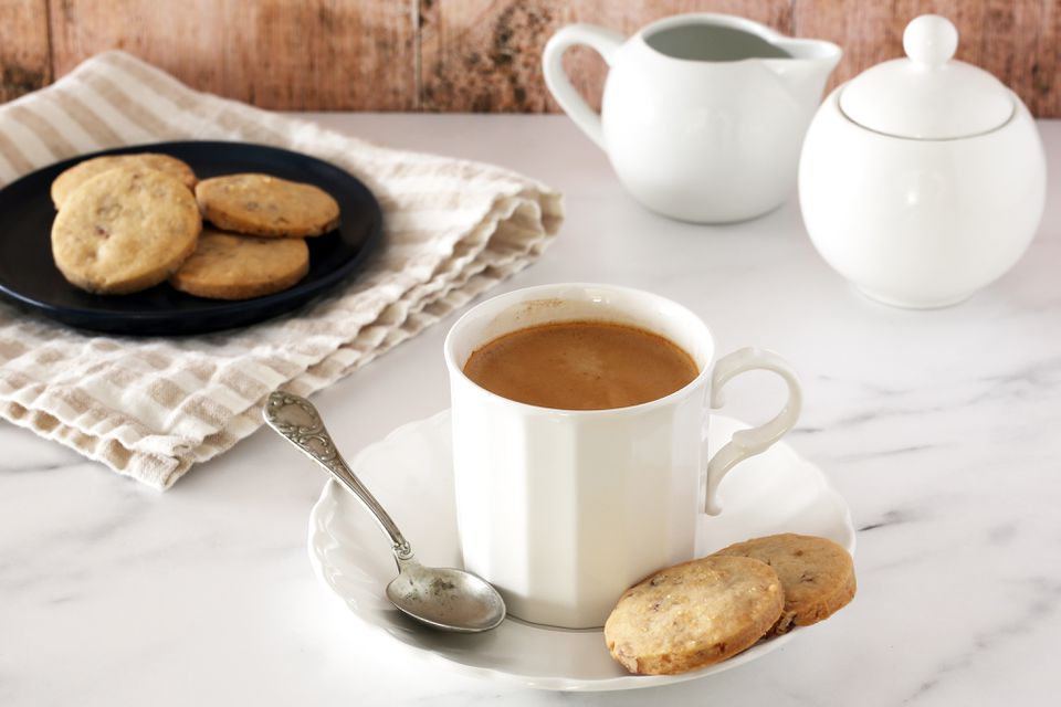 Cookies and coffee.