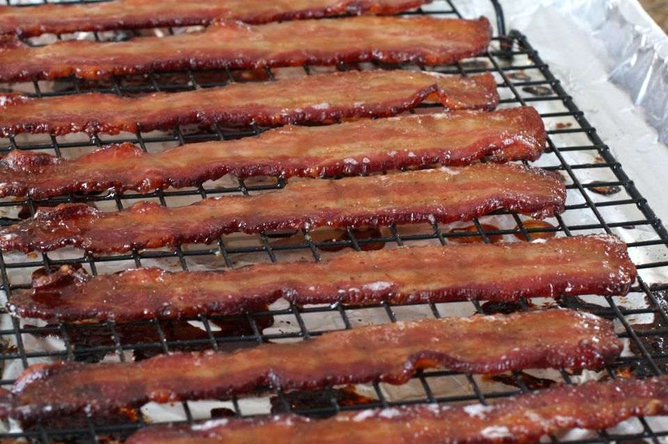 Maple and brown sugar glazed bacon