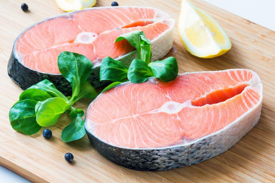 Filetes de salmón escalfado