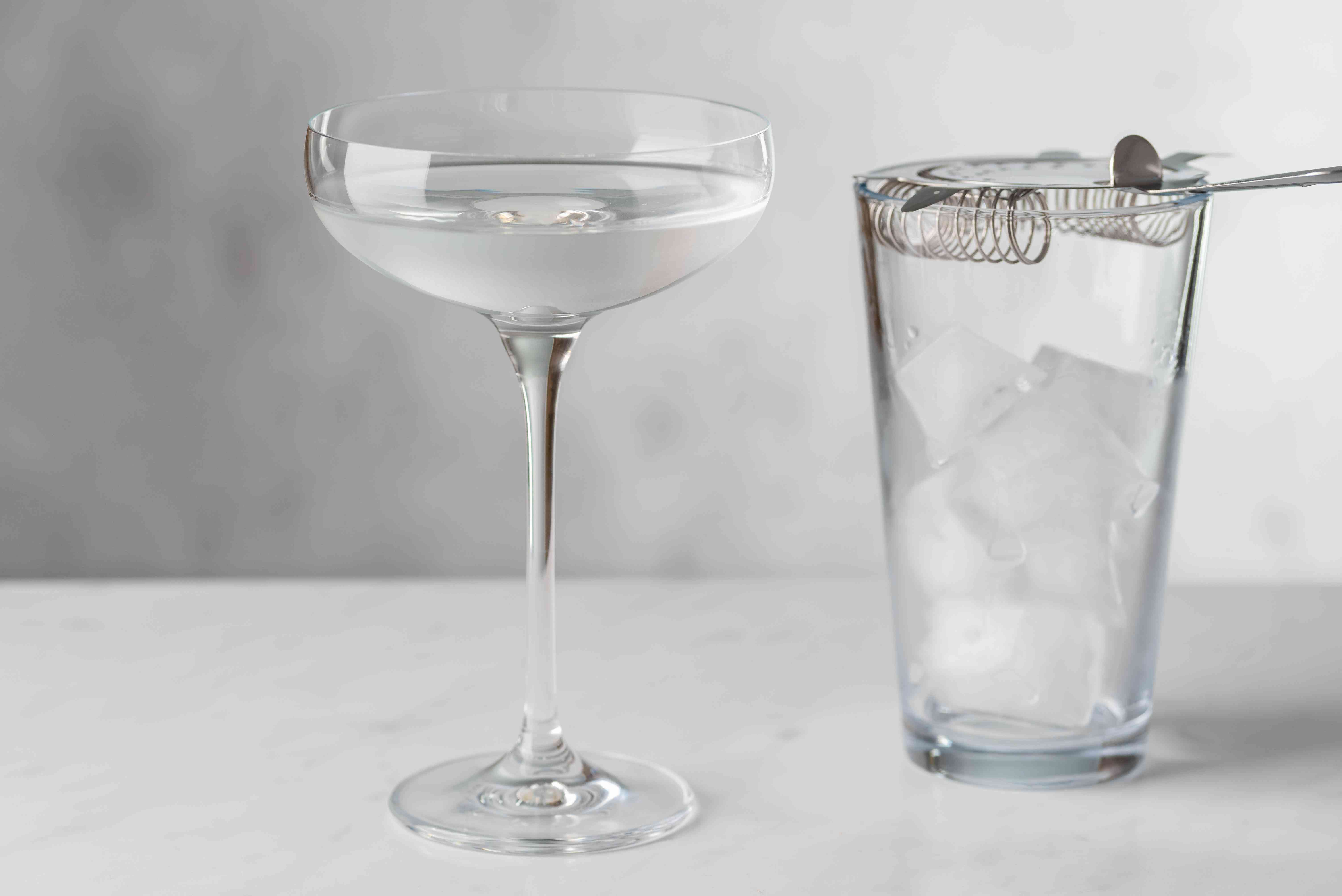 Strain into a chilled cocktail glass