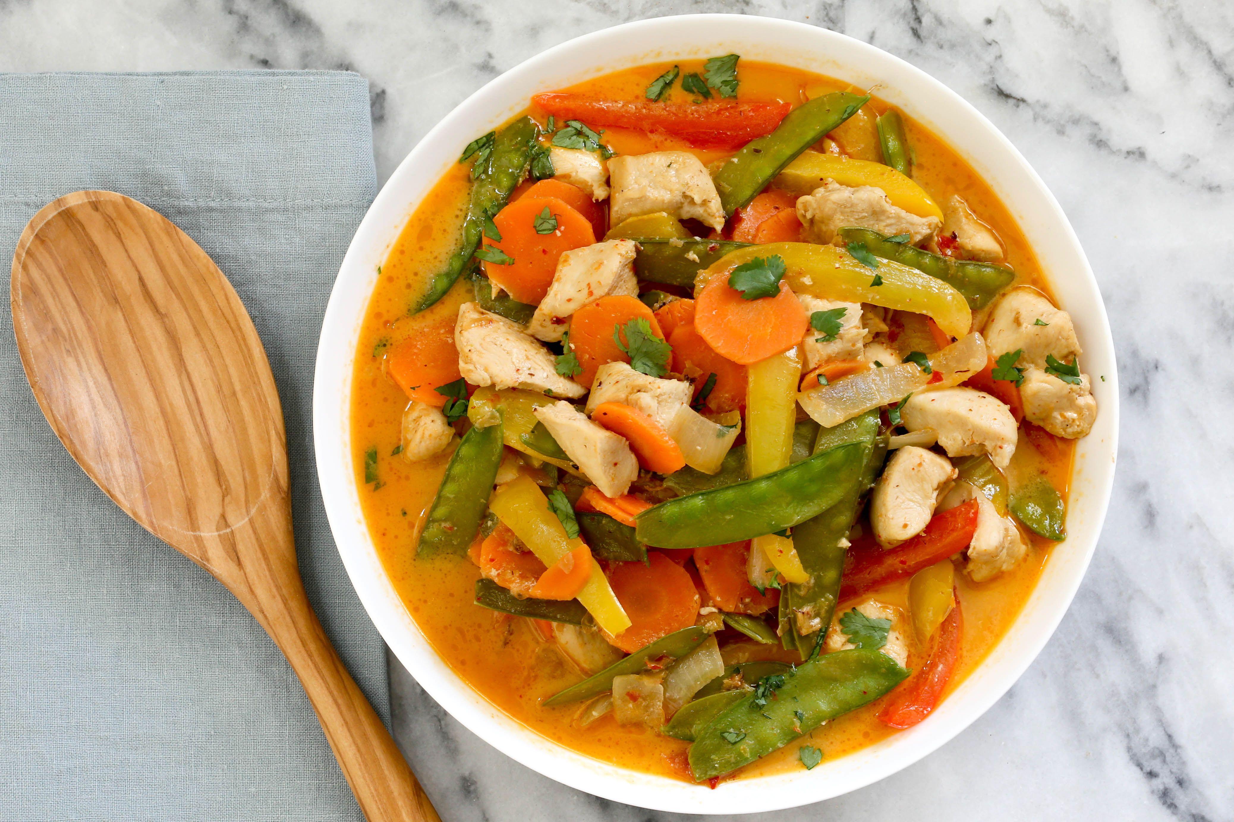 Instant Pot Thai chicken curry.