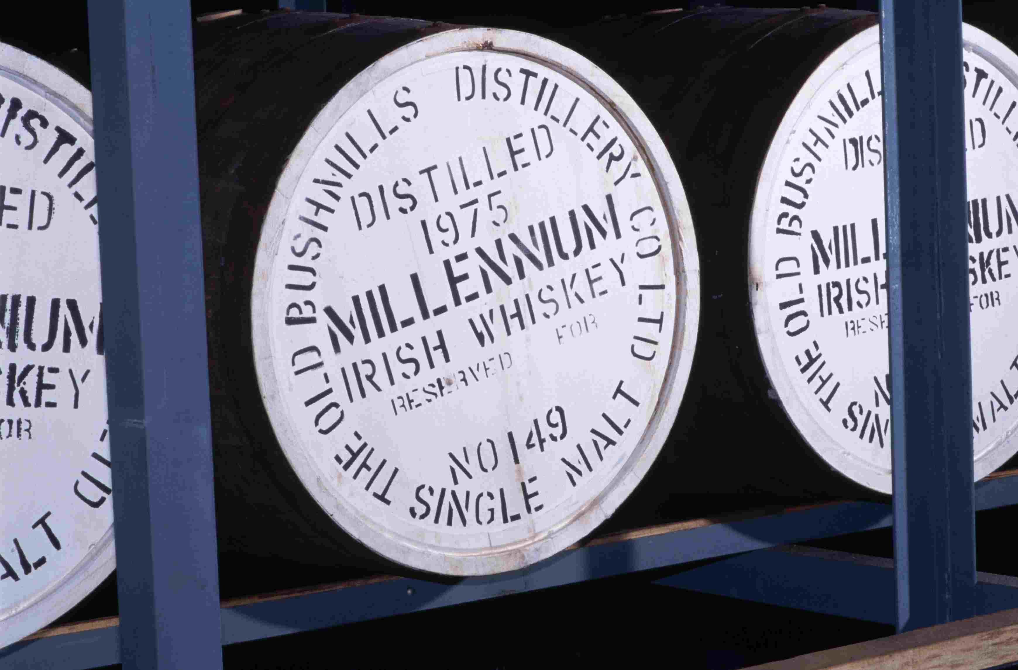 Bushmills Distillery - Barrels of Single Malt Irish Whiskey