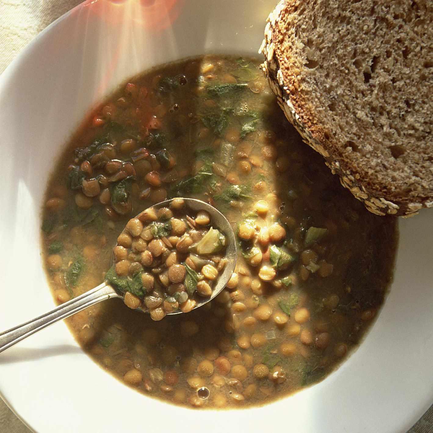 Lentil Soup with Escarole