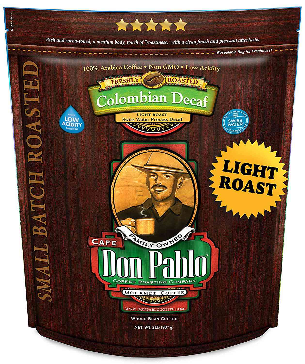 Cafe Don Pablo Colombian Light Roast Decaf Coffee
