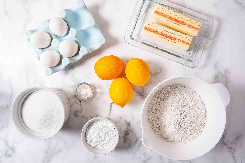 Meyer Lemon Bar ingredients