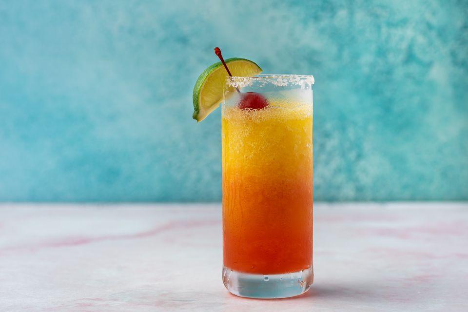 Frozen Tequila Sunrise Margarita