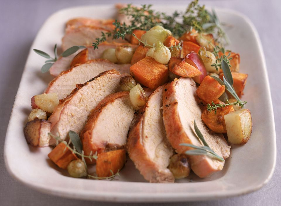 pork loin and sweet potatoes