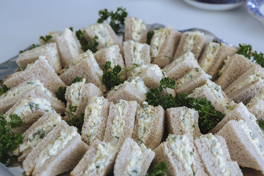 Simple Egg Salad Tea Sandwiches