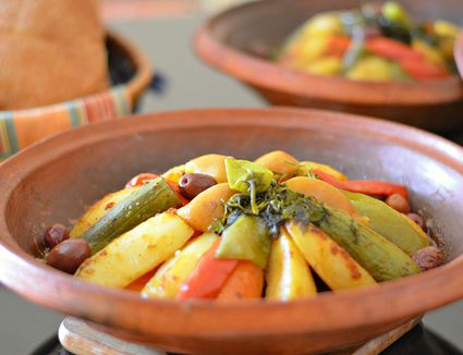 Moroccan Berber Tagine with vegetables