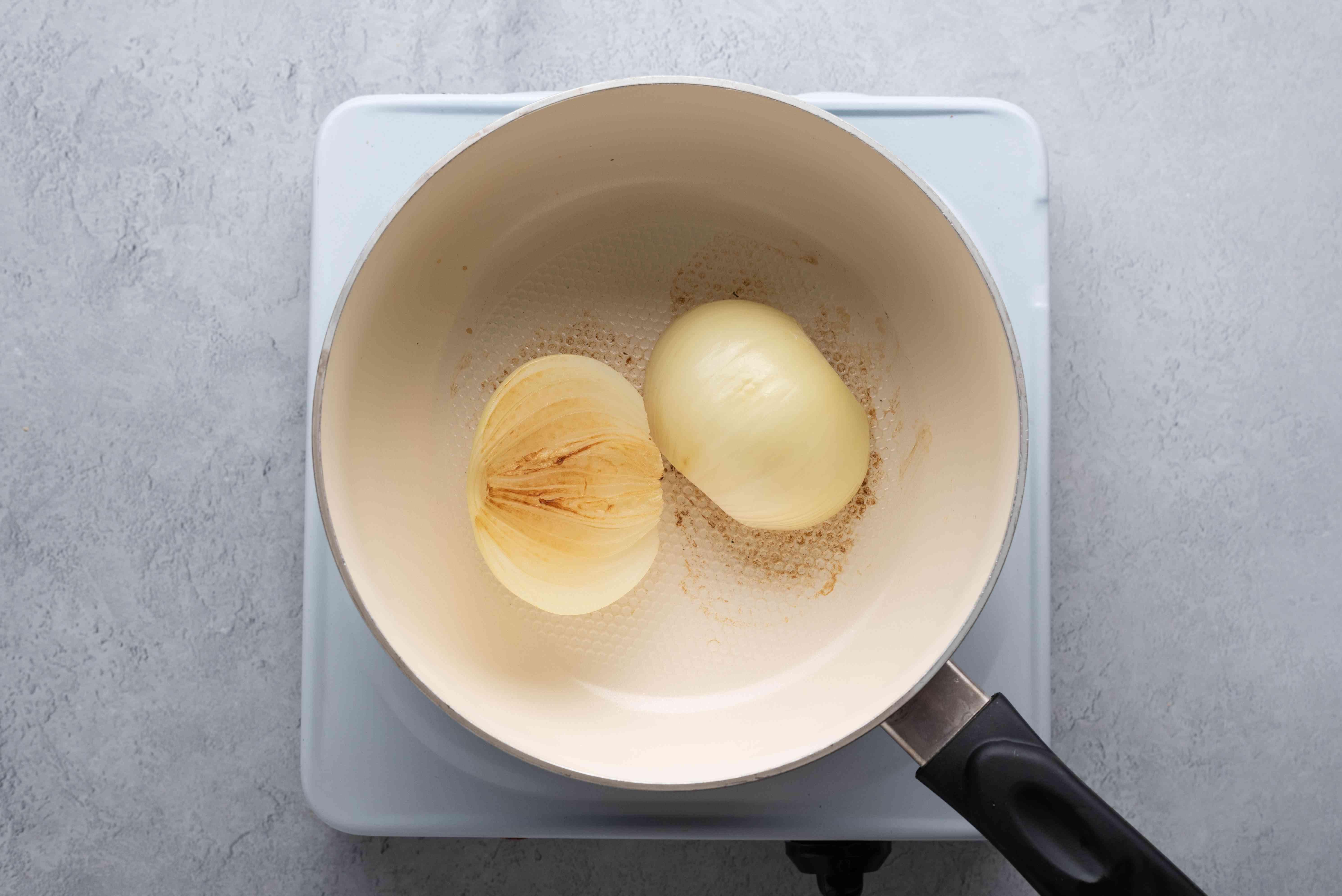 Onion in a saucepan