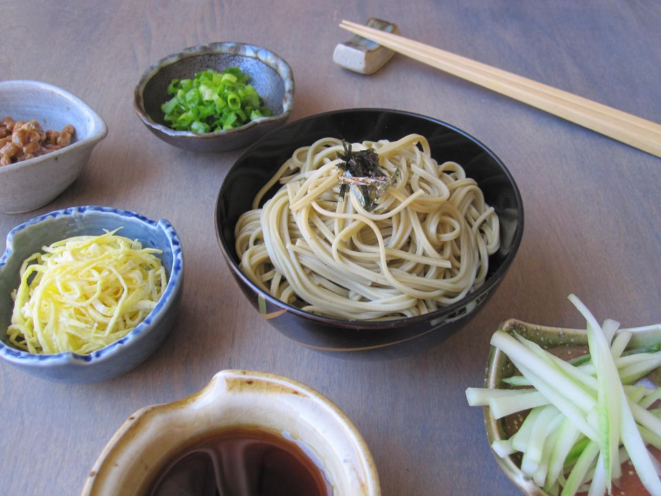 Green Tea Buckwheat Noodles (Cha Soba)