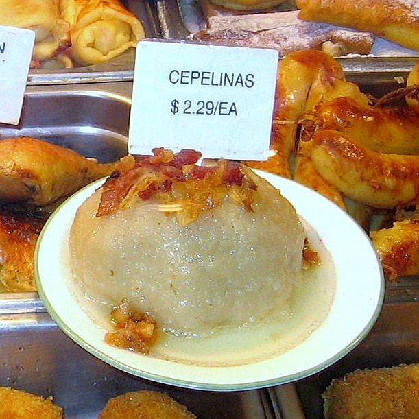 Lithuanian Cepelinai Dumpling at Racine Bakery in Chicago