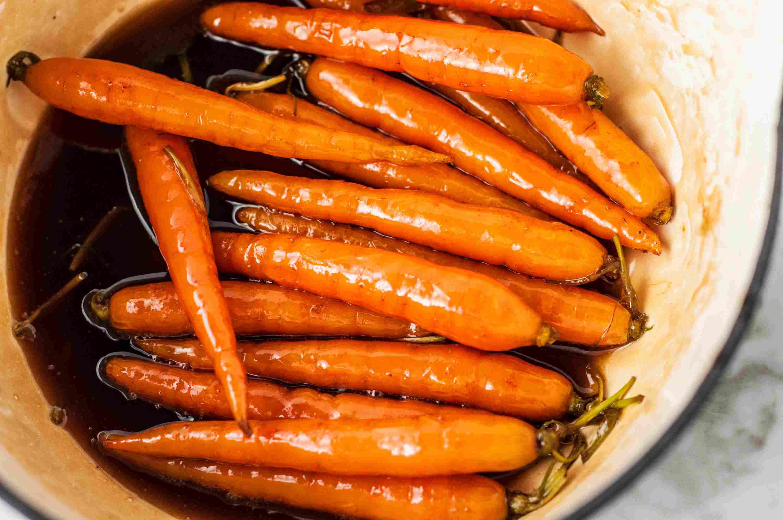 Brown Sugar Glazed Carrots boiled down