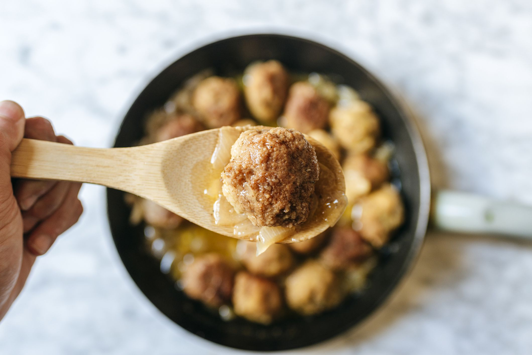 Old-Fashioned Slow Cooker Meatball Stew