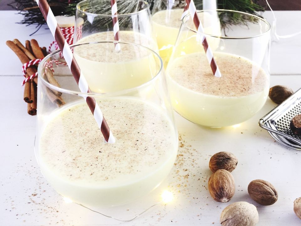 12 best holiday eggnog cocktail recipes close up of eggnog on table forumfinder Image collections