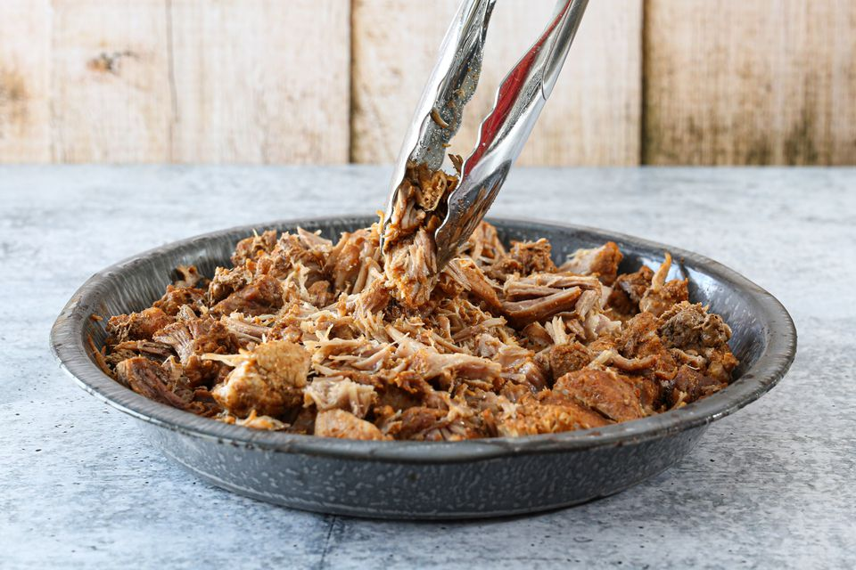 Pulled pork in a dish