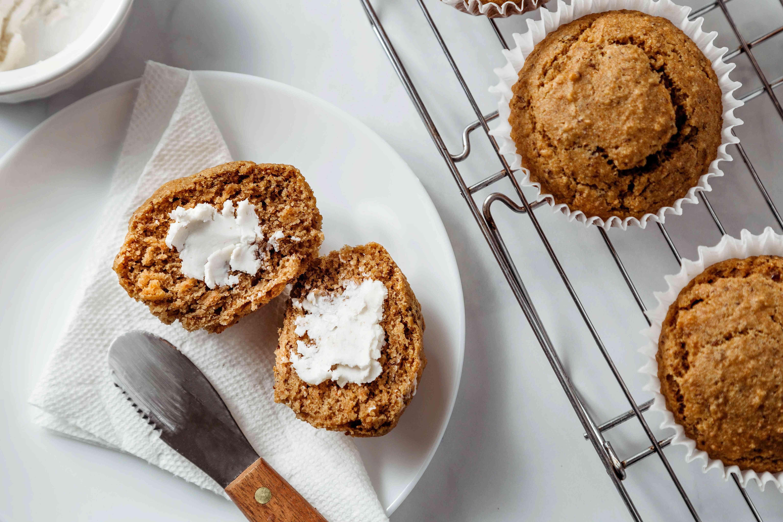 Basic Vegan Muffins with vegan butter
