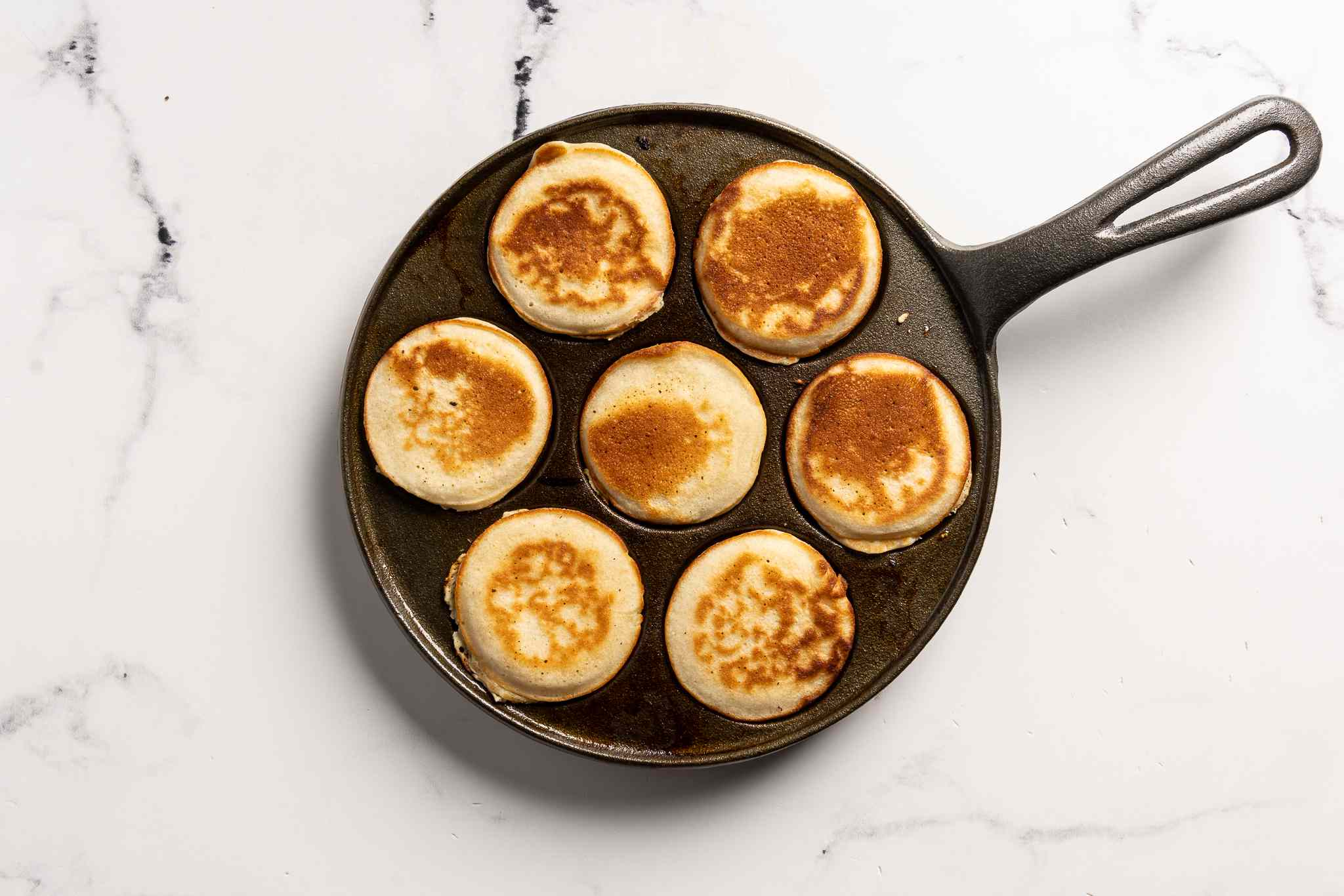 Cooked silver dollar pancakes