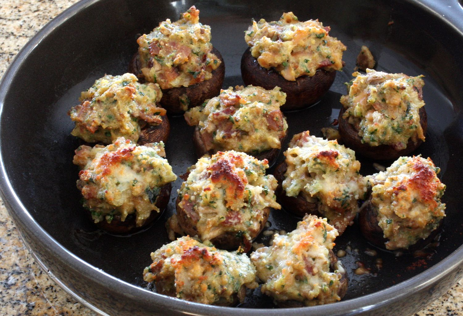 Stuffed Mushrooms with Clams Appetizer Recipe