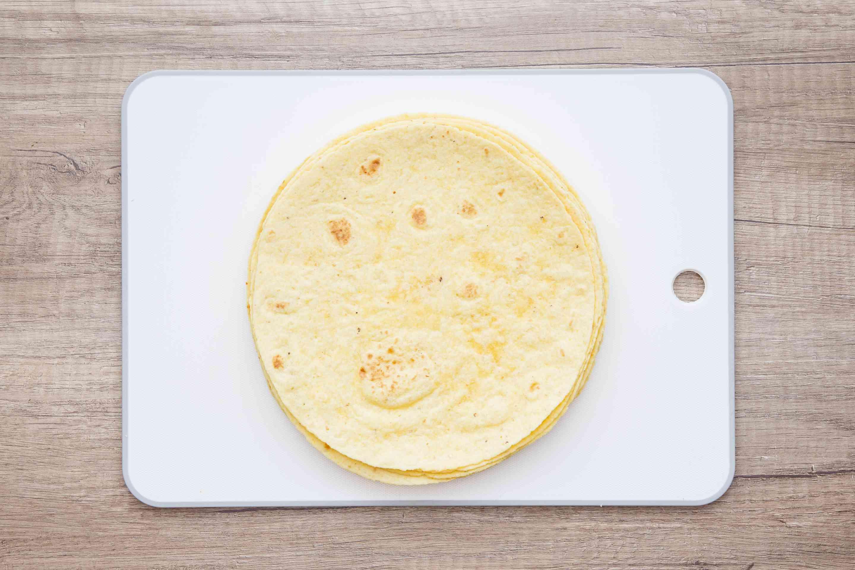Tortillas on a cutting board